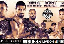 WSOF 33 aangevuld met twee nieuwe gevechten (incl. titelgevecht)