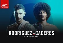 Resultaten UFN 92 Rodriguez vs Caceres