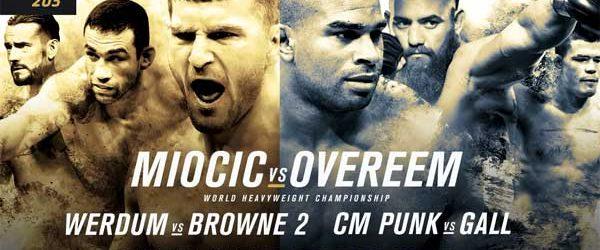 UFC 203 : Miocic vs. Overeem : Complete Card + Nederlandse Tijden