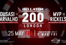 Bellator komt naar Londen met Mousasi voor de titel