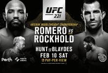 Uitslagen : UFC 221 Perth : Romero vs. Rockhold