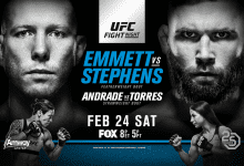 Uitslagen : UFC on FOX 28 Orlando : Emmett vs. Stephens