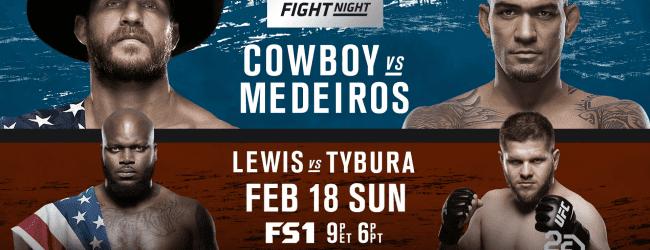 Uitslagen : UFN 126 Austin : Cowboy vs. Medeiros