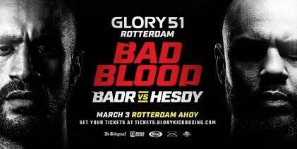 GLORY 51 Rotterdam: Live uitslagen