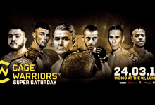 Uitslagen : Cage Warriors 92 : Wood vs. Iovine