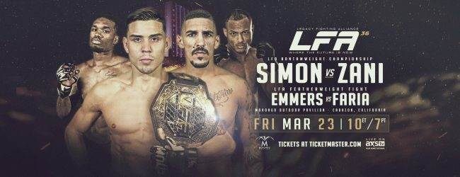 Uitslagen : LFA 36 : Simon vs. Zani