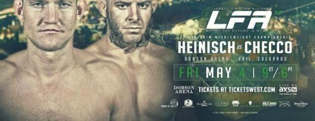 Ian Heinisch treft Gabriel Checco voor Interim Middleweight titel tijdens LFA 39