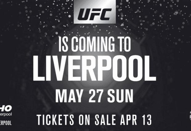 De UFC komt op 27 mei naar Liverpool