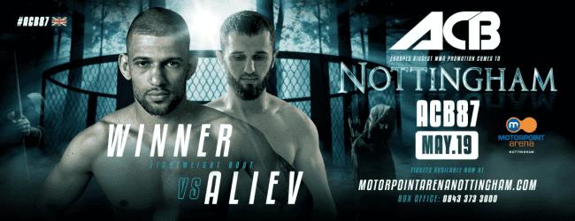 UFC veteraan Andre Winner treft Adam Aliev tijdens ACB 87 in Nottingham