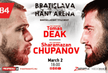 Uitslagen : Fight Nights Global 84 : Deak vs. Chupanov