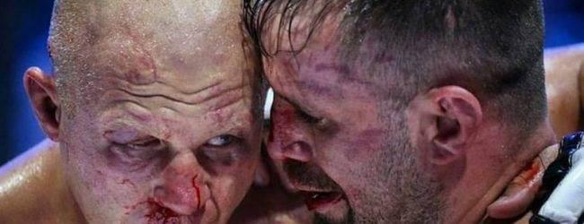 Fabio Maldonado en Diego Brandao op Fight Nights Global debuutshow in Brazilië