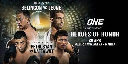 Uitslagen : ONE Championship 70 : Heroes of Honor