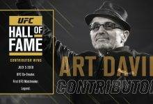 Art Davie komt in de UFC Hall of Fame (Contributor Wing)