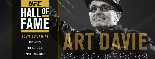 Art Davie komt in de UFC Hall of Fame (Contributor Wing)
