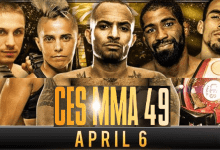 Uitslagen : CES MMA 49 : Curtis vs. Norwood