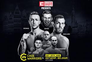 Europese toptalenten tijdens Cage Warriors 94 in Antwerpen
