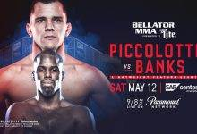 Adam Piccolotti treft Carrington Banks tijdens Bellator 199 in San Jose