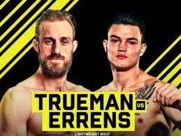 Jarno Errens treft Dean Trueman tijdens Cage Warriors 94 in Antwerpen