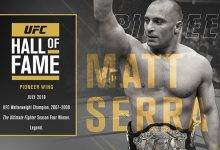 Matt Serra komt in de UFC Hall of Fame (Pioneer Wing)