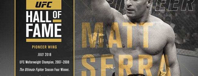 Matt Serra komt in de UFC Hall of Fame (Pioneer Wing)