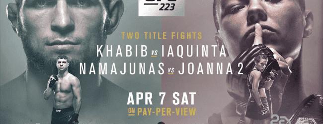 Uitslagen : UFC 223 : Khabib vs. Iaquinta