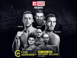 Twee partijen toegevoegd aan Cage Warriors 94 in Antwerpen