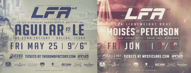 "LFA 40 & 41 aangekondigd inclusief ""Title Unification Fight"""