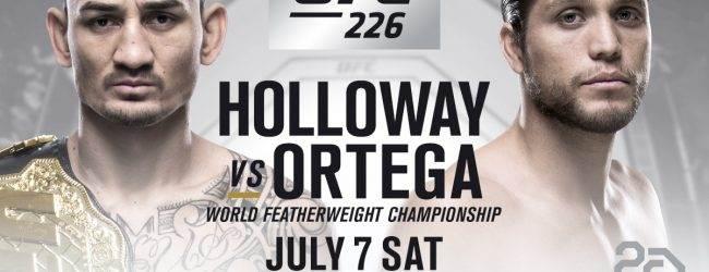 Featherweight Kampioen Max Holloway treft Brian Ortega tijdens UFC 226