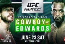 Drie nieuwe gevechten toegevoegd aan UFC Singapore card in Juni