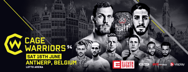 Twee nieuwe gevechten toegevoegd aan Cage Warriors 94 in Antwerpen