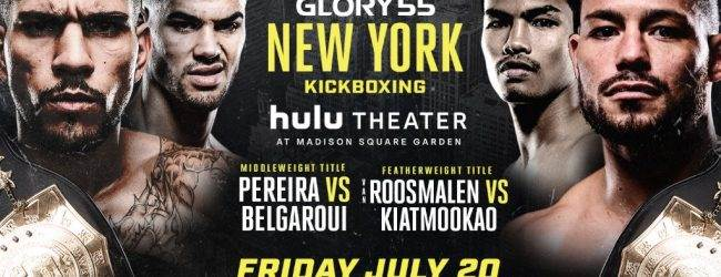 Middleweight & Featherweight titel op het spel tijdens GLORY 55 in New York