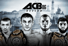 Uitslagen : ACB 86 : Moscow