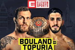 Main Event voor Bantamweight titel tussen Brian Bouland en Ilia Topuria in Antwerpen