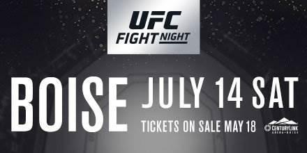 Zak Ottow ontmoet Sage Northcutt tijdens UFC Fight Night Boise