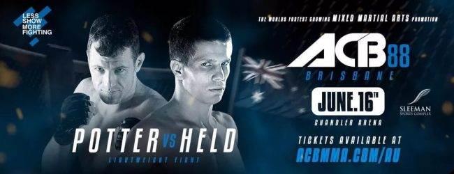 Vier nieuwe match-ups voor ACB 88 in Brisbane inclusief debuut Marcin Held