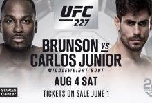 Derek Brunson en Antonio Carlos Junior ingeroosterd op UFC 227