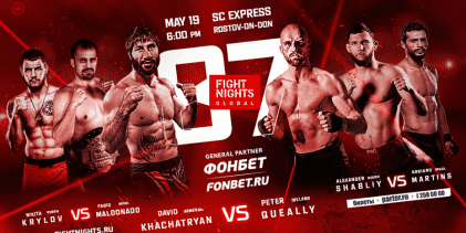 Uitslagen : Fight Nights Global 87 : Khachatryan vs. Queally