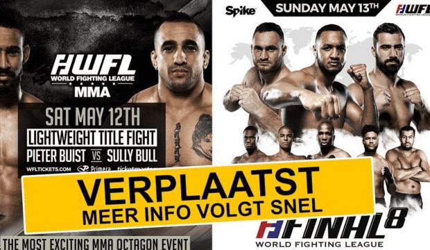 BREAKING: Beide World Fighting League evenementen afgelast