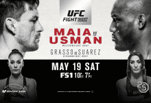 Uitslagen : UFN 129 Santiago : Maia vs. Usman