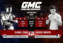 Nieuwe tegenstander voor Djamil Chan tijdens GMC 15 in Ulm