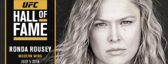 Ronda Rousey als eerste vrouw in UFC Hall of Fame (Moderne Wing)
