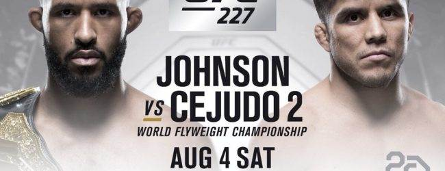 Demetrious Johnson verdedigt Flyweight titel tegen Henry Cejudo tijdens UFC 227
