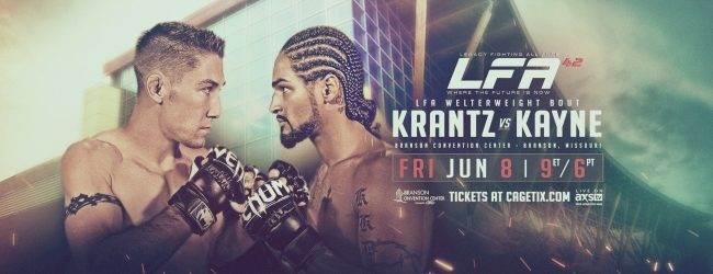 Uitslagen : LFA 42: Krantz vs. Kayne