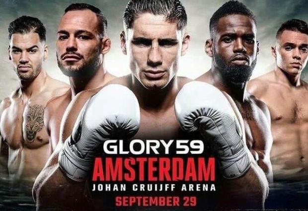 Nieuwe GLORY 59 Amsterdam poster met Robin van Roosmalen en Yousri Belgaroui