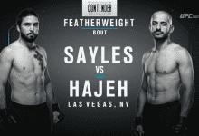 Uitslagen : DWTNCS Seizoen 2 – Week 2 : Sayles vs. Hajeh