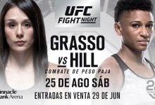Alexa Grasso neemt het op tegen Angela Hill tijdens UFC Lincoln