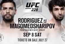 Lang verwachte partij tussen Yair Rodriguez en Zabit Magomedsharipov tijdens UFC 228