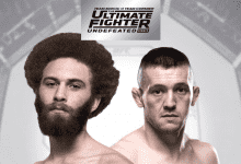 """Violent Bob Ross"" treft Richie Smullen tijdens de TUF 27 Finale in Las Vegas"