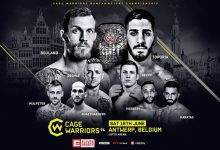 Cage Warriors 94 in Antwerpen aankomende zaterdag in de Lotto Arena