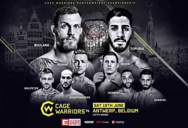 Cage Warriors 94 in Antwerpen aankomende zaterdag in de Lotto Arena